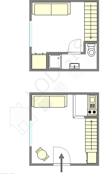 Duplex Paris 5° - Plan interactif