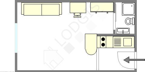 Apartamento Paris 13° - Plano interativo