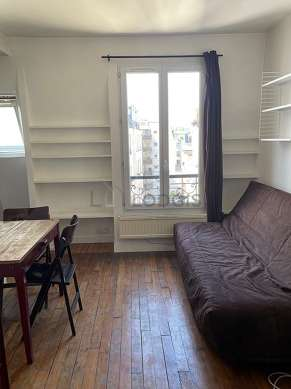 Very quiet living room furnished with 1 sofabed(s) of 140cm, dining table, cupboard, 2 chair(s)