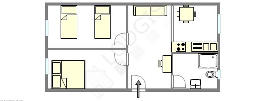 Apartamento Paris 7° - Plano interativo