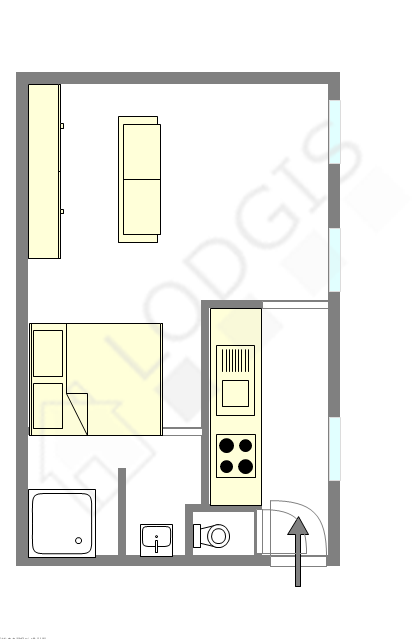 Apartment Paris 10° - Interactive plan