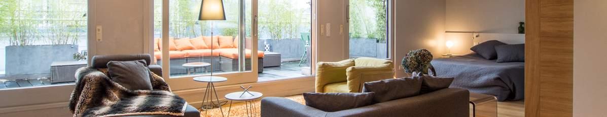 appartement avec terrasse et vue sur Seine à Paris